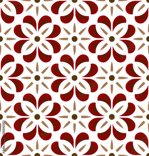 Fototapeta cute tile pattern vector