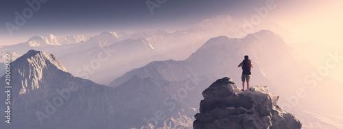 Obraz na płótnie High peak adventure