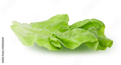 Fotografia Fresh lettuce leaf isolated on white background with clipping path
