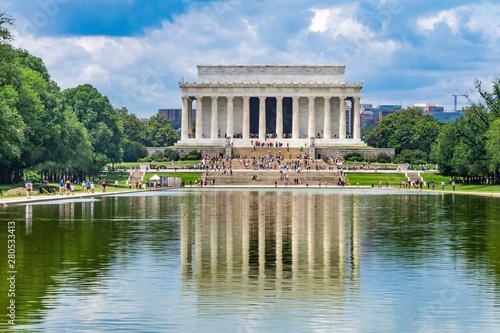 Obraz na płótnie Reflecting Pool Reflection Abraham Lincoln Memorial Washington DC