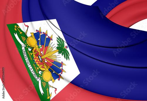 3D Flag of the Haiti. 3D Illustration. Fototapet