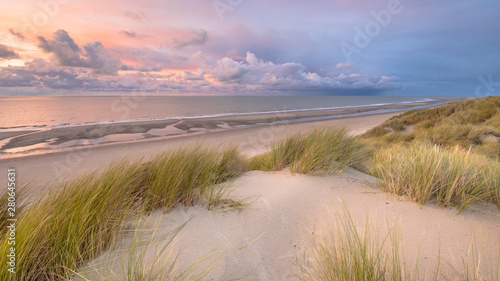 Photographie View over North Sea from dune