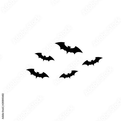 bat vector icon logo template design Fototapete
