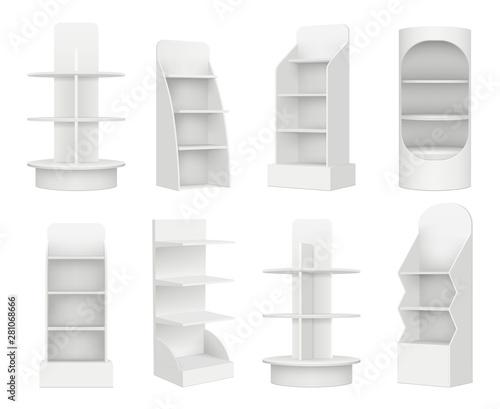 Fotografie, Obraz Empty retail shelves