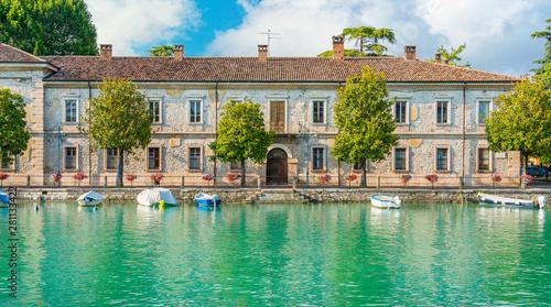 Fotografie, Obraz Scenic sight in Peschiera del Garda, village on Lake Garda, in the Province of Verona, Veneto, italy