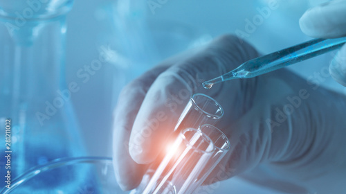 Fotografiet Genetic research and Biotech science Concept