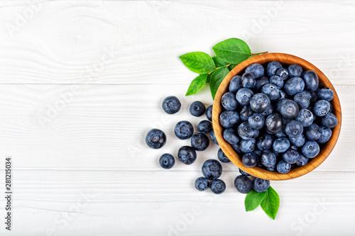 fresh blueberries in bowl Fototapete