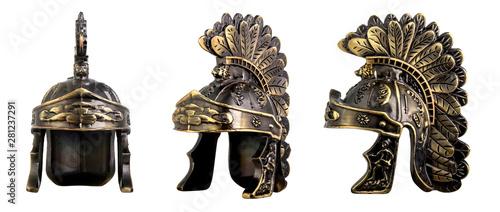 Obraz na płótnie Roman helmet isolated on white