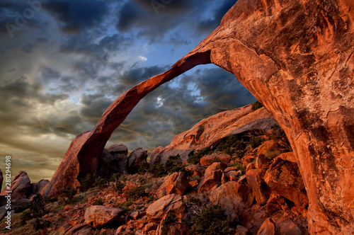 Wallpaper Mural The Landscape Arch in Arches National Park, Utah.