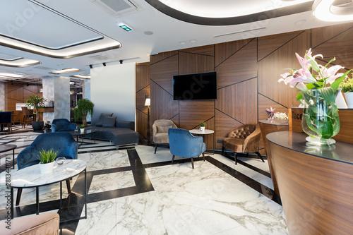 Wallpaper Mural Interior of a modern luxury hotel reception