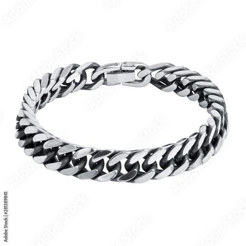 Fotografia, Obraz Fashion male bracelet isolated on white