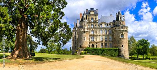 Fotografia Famous castles of Loire valley - beautiful romantic Chateau de Brissac, Landmark