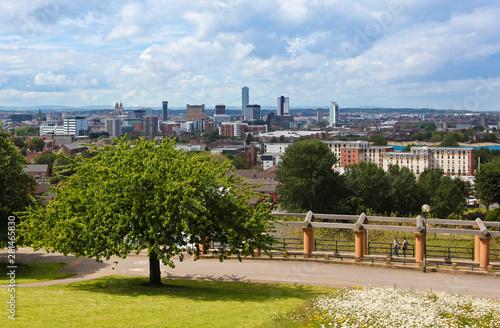 Fényképezés An Aerial View of Liverpool, England, from Everton Park, UK, GB