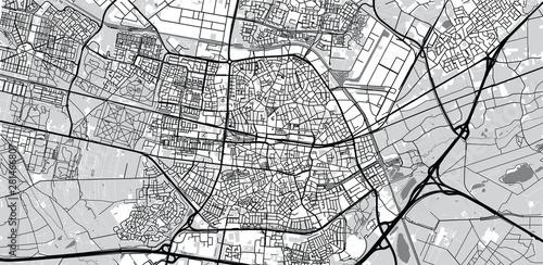 Canvas Print Urban vector city map of Tilburg, The Netherlands