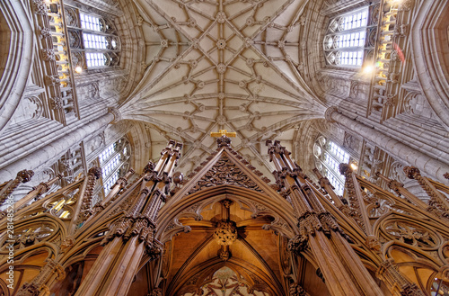 Obraz na plátně Interior of Winchester Cathedral