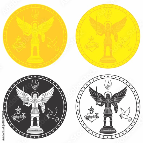Photographie Archangel Michael. Christian symbol.