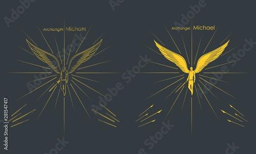 Canvas Print Archangel Michael. Christian symbol.