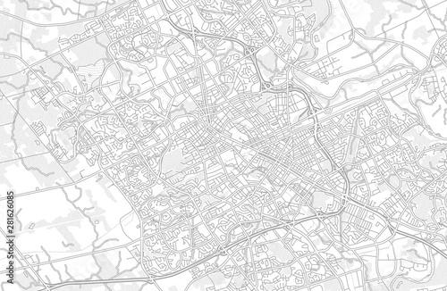 Canvas Print Waterloo, Ontario, Canada, bright outlined vector map