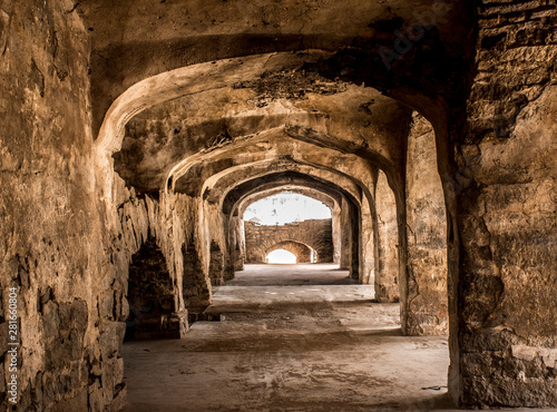 Платно The Amazing landscape of the historic Golconda, Hyderabad, India