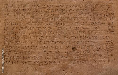Fotografía clay tablets with ancient cuneiform