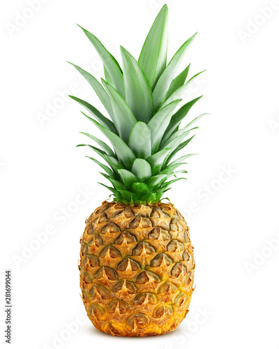 Fotografia pineapple isolated on white background, clipping path, full depth of field
