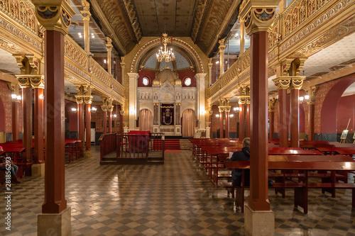 Obraz na płótnie Chic and elegant interior of the Tempel synagogue