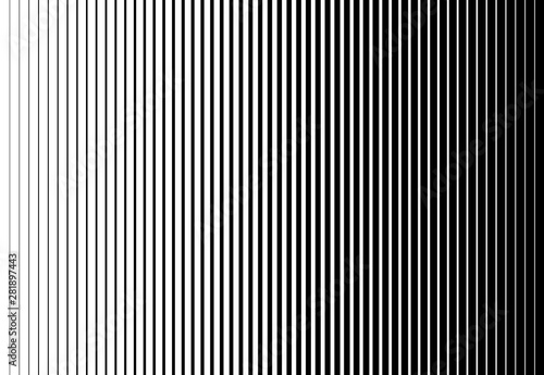 Fotografia Vertical speed line halftone pattern thick to thin