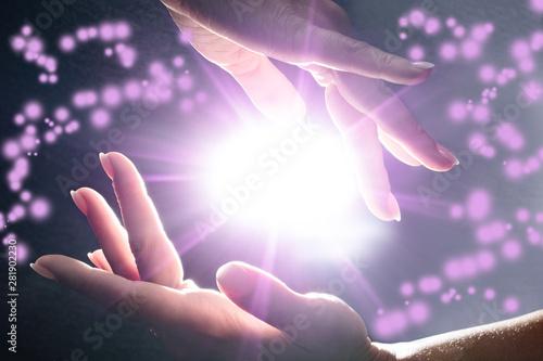 Obraz na płótnie Mysterious Power In The Hands