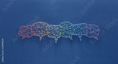 Photo Social communication concept