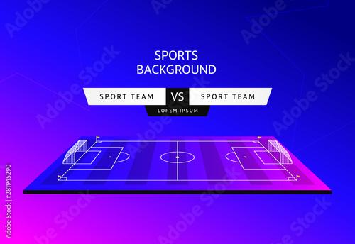Fotografia, Obraz Soccer match schedule Vector illustration sports background