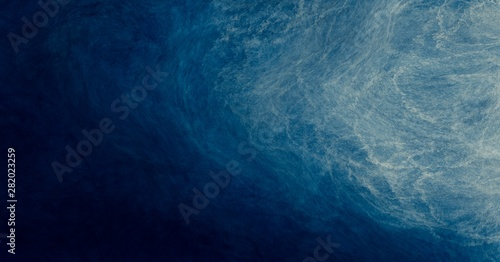 Obraz na plátně Abstract watercolor paint background by navy blue and white with liquid fluid te
