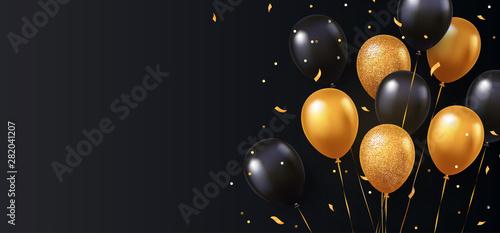 Fotografia Celebration, festival background with helium balloons
