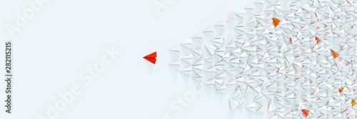 Fotografia, Obraz Leadership and victory concepts, 3d rendering illustration