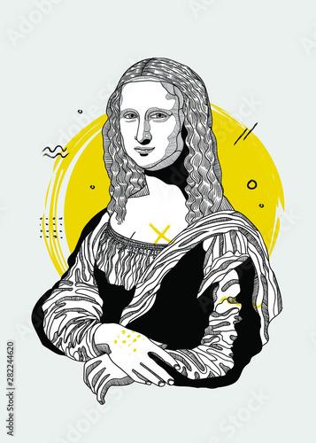 Tablou Canvas Mona Lisa - Gioconda by Leonardo da Vinci