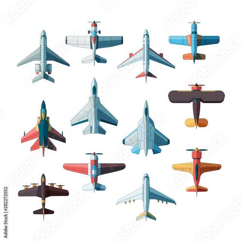 Fotografie, Obraz Planes top view