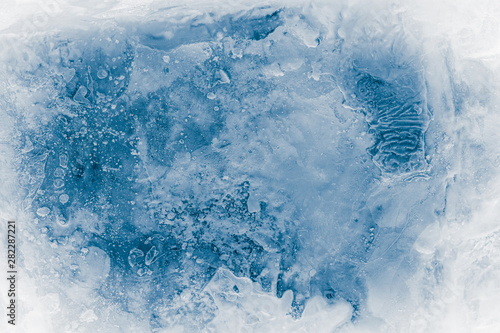 Fotografia Textured ice block surface background.