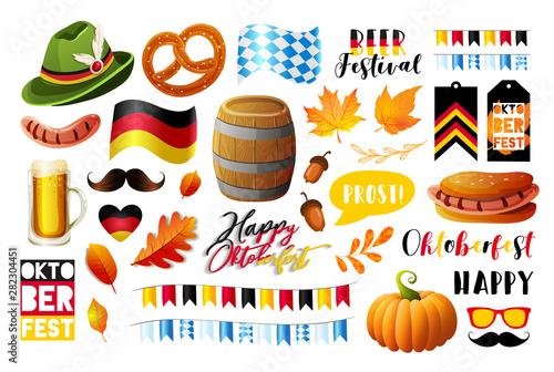 Fotografija Set of Oktoberfest vector design elements. Vector EPS 10