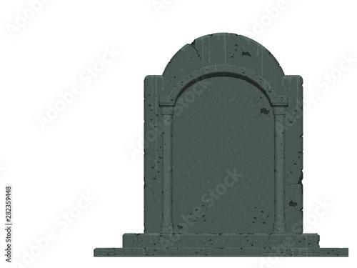 Valokuvatapetti An isolated gravestone on transparent background