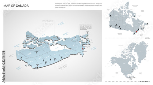 Fotografie, Obraz Vector set of Canada country