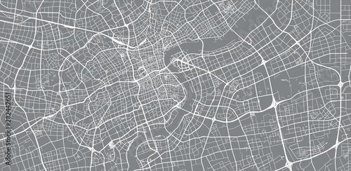 Fototapeta Urban vector city map of Shanghai, China