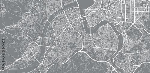 Fototapeta Urban vector city map of New Taipei, China