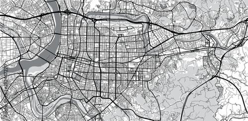 Fotografie, Obraz Urban vector city map of Taipei, China