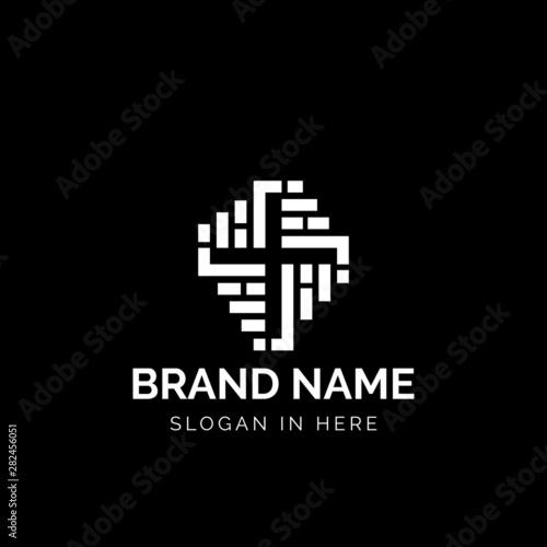 Canvas Print Brick Church logo icon design illustration