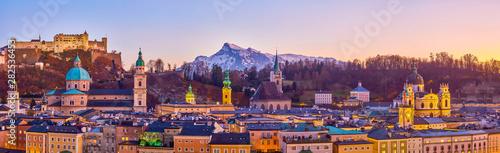 Fototapeta premium Twarz starego Salzburga w Austrii