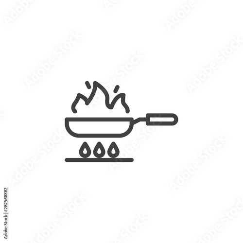 Wallpaper Mural Frying on fire line icon
