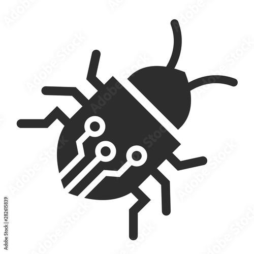 Circuit bug vector icon Fotobehang