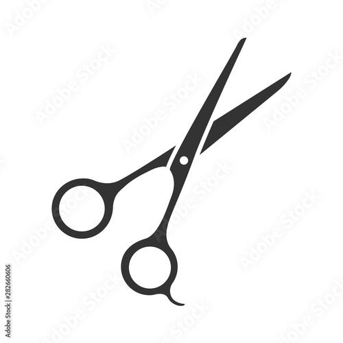 Canvas Print Scissors glyph icon