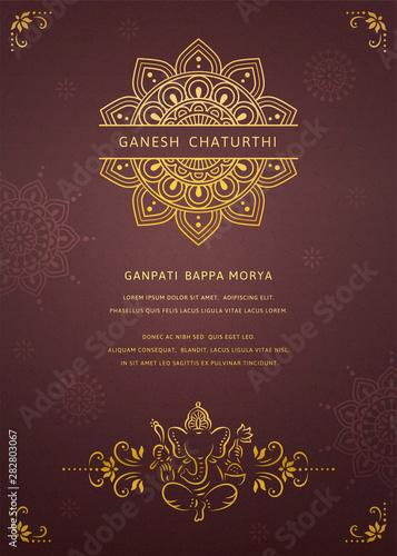 Photo Happy Ganesh chaturthi design