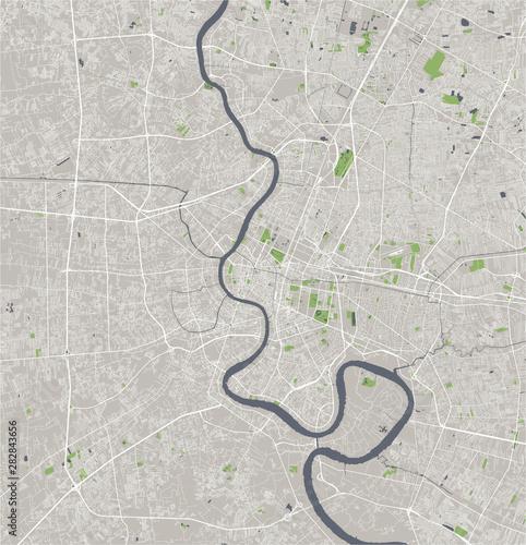 Fototapeta map of the city of Bangkok, Thailand