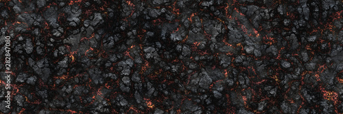 Photo Burned charcoal- glowing surface of the coals. Abstract nature p
